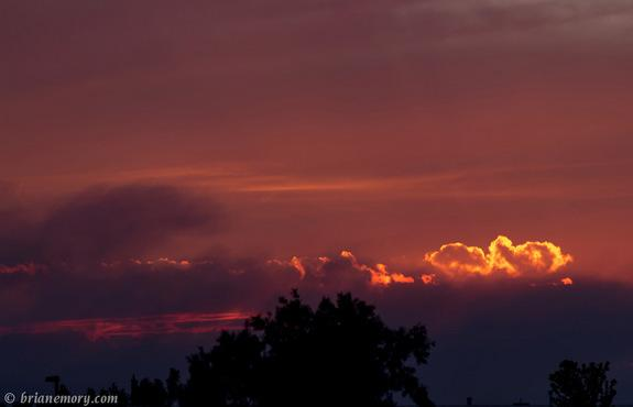 Airborne particles and droplets called aerosols can make for colorful sunsets. Above, a sunset during an aerosol-ejecting Colorado wildfire in June 2012.