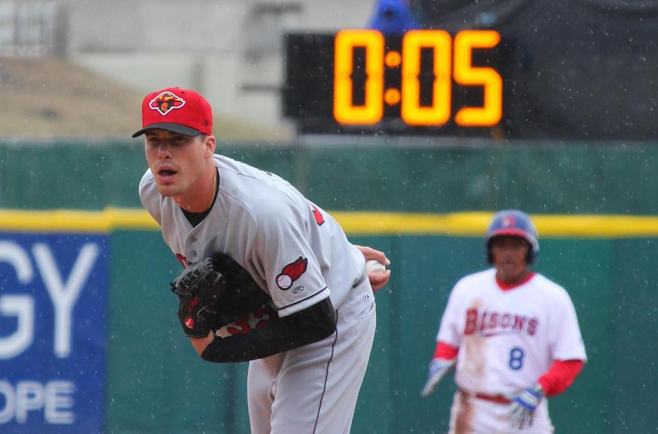 A pitch clock has been used in the minors for years, and has yielded significant results. (AP Photo/Bill Wippert)