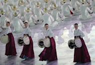 <p>Performers take part in the opening ceremony. REUTERS/Carlos Barria </p>