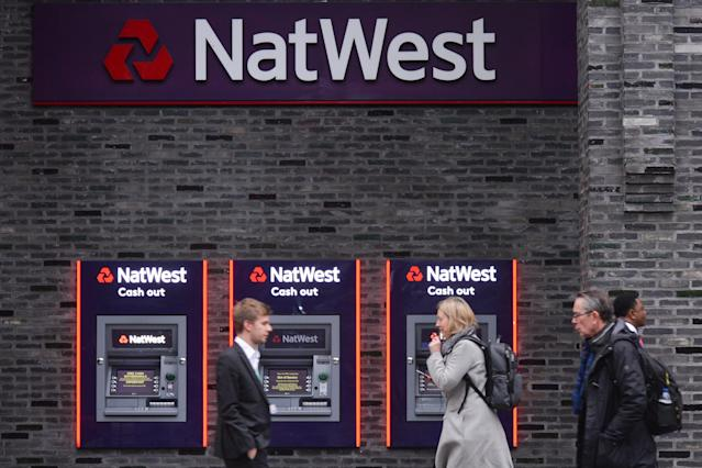 A Natwest bank branch in City Of Westminster, London. (Artur Widak/NurPhoto via Getty Images)