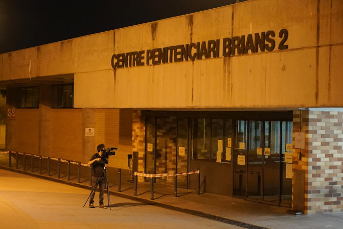 Entrance of Brians 2 penitentiary center in Sant Esteve Sesrovires, near Barcelona, northeast Spain, late Wednesday, June 23, 2021. John McAfee, the creator of the McAfee antivirus software, has been found dead in his cell in the jail, a government official has told The Associated Press. Earlier Wednesday, a Spanish court issued a preliminary ruling in favor of his extradition to the U.S. to face tax-related criminal charges. Security personnel at the penitentiary tried to revive McAfee, who was 75, but the jail's medical team finally certified his death, the regional Catalan government said. (AP Photo/Joan Mateu)
