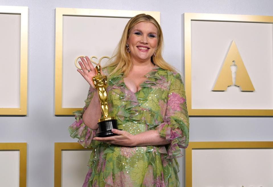 Emerald Fennell received the Best Original Screenplay awardAP