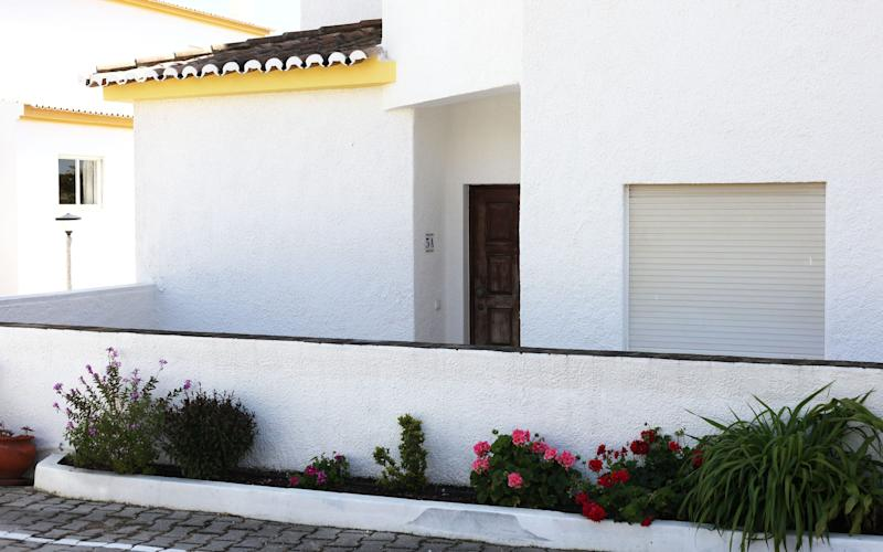 The apartment from which Madeleine McCann disappeared in Praia da Luz, in the Algarve - Credit: Clara Molden for The Telegraph