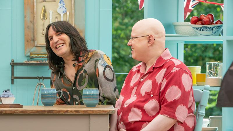 Noel Fielding and Matt Lucas on 'GBBO' (Channel 4)