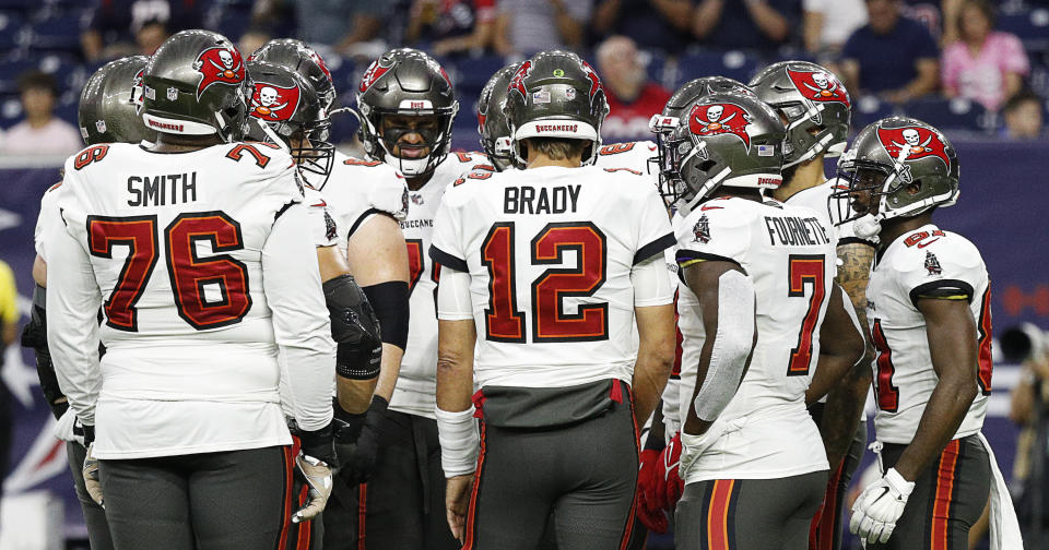 Tom Brady # 12 of the Tampa Bay Buccaneers
