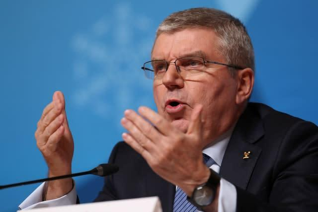 IOC president Thomas Bach faced criticism for the time it had taken to announce a postponement (Mike Egerton/PA)