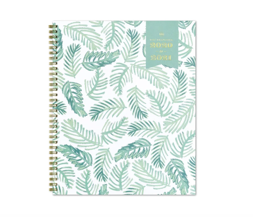 """<h3><a href=""""https://www.bluesky.com/collections/planners/products/2020-2021-weekly-planner-8-5-x-11-palms-day-designer"""" rel=""""nofollow noopener"""" target=""""_blank"""" data-ylk=""""slk:Blue Sky 2020-2021 Palms Weekly Planner"""" class=""""link rapid-noclick-resp"""">Blue Sky 2020-2021 Palms Weekly Planner </a></h3> <br>Get a stylish head start on the academic year with weekly and monthly pages for planning and scheduling, a notes section, and reference calendar all waiting for you behind a chic palm-leaf cover.<br><br><strong>Blue Sky</strong> 2020-2021 Palms Weekly Planner 8.5 x 11, $, available at <a href=""""https://go.skimresources.com/?id=30283X879131&url=https%3A%2F%2Fwww.bluesky.com%2Fcollections%2Fplanners%2Fproducts%2F2020-2021-weekly-planner-8-5-x-11-palms-day-designer"""" rel=""""nofollow noopener"""" target=""""_blank"""" data-ylk=""""slk:Blue Sky"""" class=""""link rapid-noclick-resp"""">Blue Sky</a><br>"""