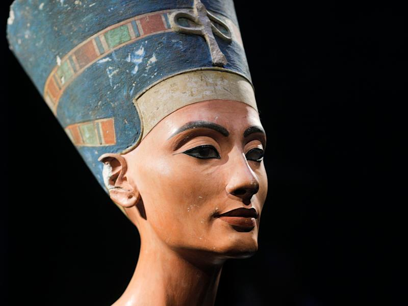 a 3,300 year old bust of Queen Nefertiti is seen at the New Museum, in Berlin, Germany.