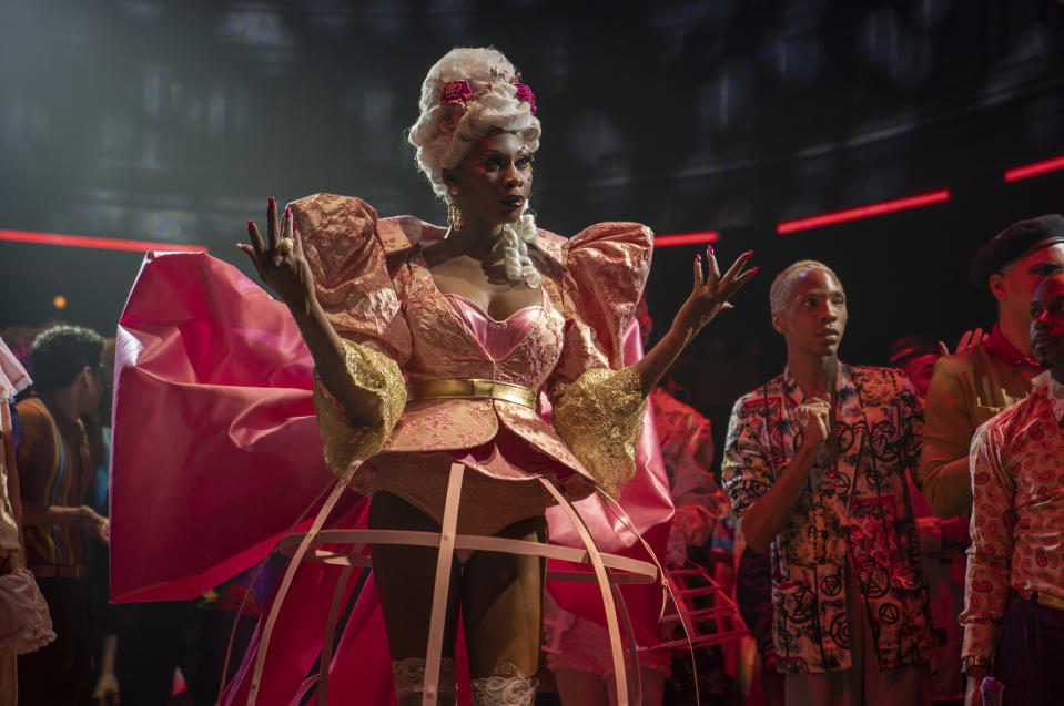 Dominique Jackson as Elektra, wearing her Marie Antoinette dress in the Season 2 premiere of FX's 'Pose' (Macall Polay/FX)