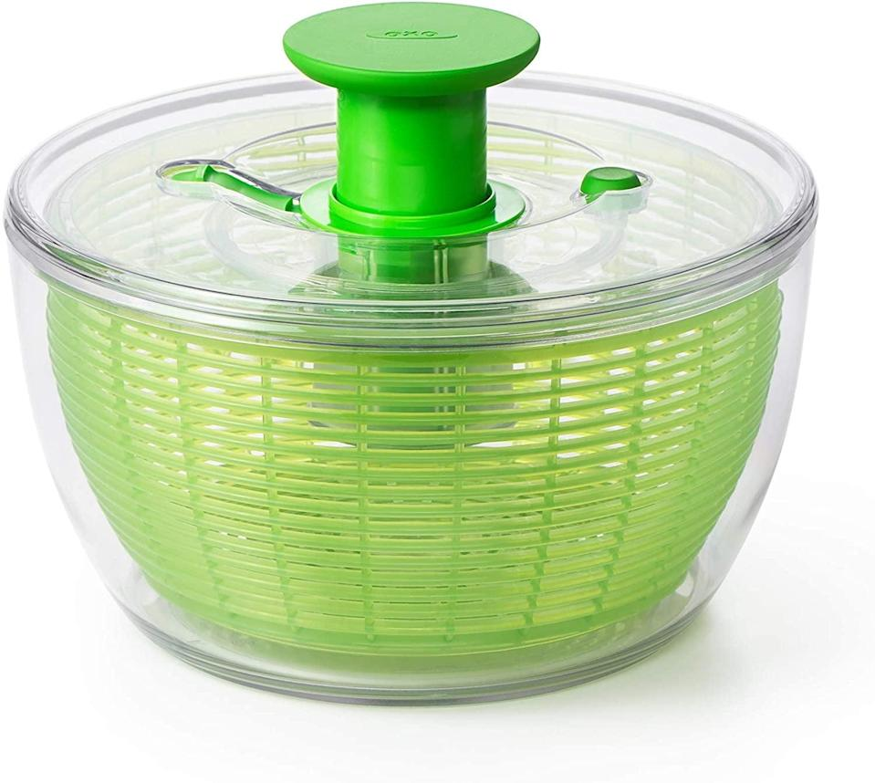 <p>Strain washed lettuce faster with this <span>OXO Good Grips Salad Spinner</span> ($30).</p>