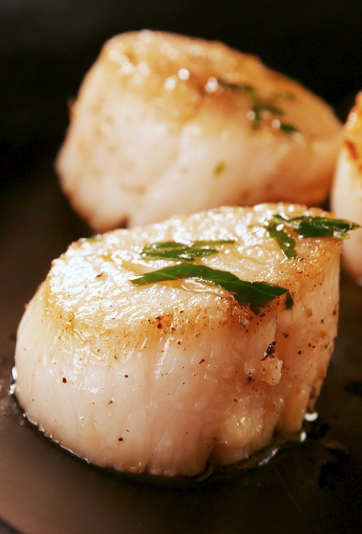 "<p>Just 10 minutes away from delicious scallops. </p><p>Get the recipe from <a href=""https://www.delish.com/cooking/recipe-ideas/a15325/seared-scallops-recipe-fw0311/"" rel=""nofollow noopener"" target=""_blank"" data-ylk=""slk:Delish"" class=""link rapid-noclick-resp"">Delish</a>. </p>"