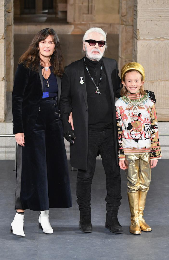 <p>The designer gave his final bow at the Chanel Metiers D'Art 18/19 Show at The Metropolitan Museum of Art on December 4, 2018. <em>[Photo: Getty]</em> </p>