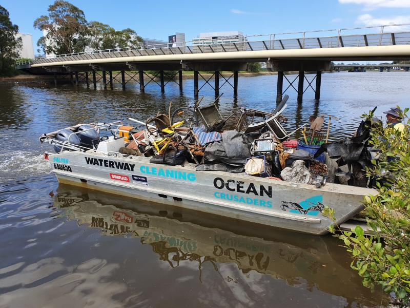 Rubbish pulled from Cooks River.
