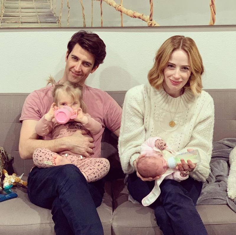 Guy Nattiv and Jaime Ray Newman with daughters Alma (L) and Mila   Jaime Ray Nattiv/Instagram
