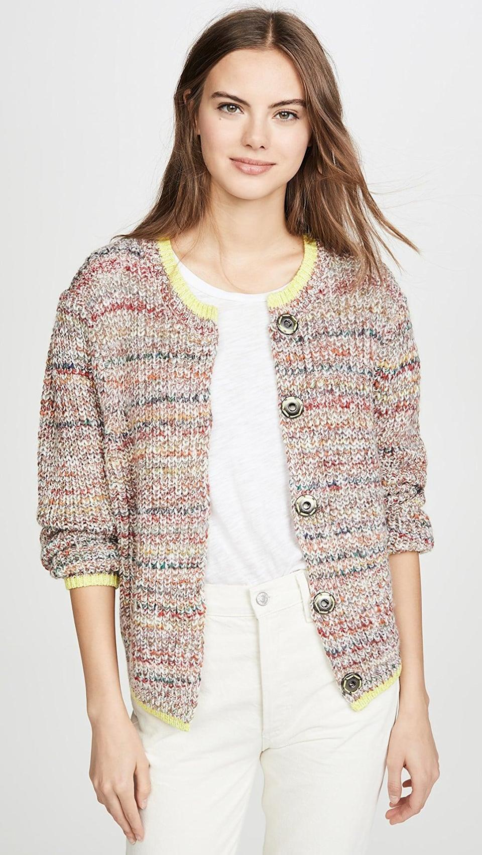 "<p>We love the colors of this <a href=""https://www.popsugar.com/buy/Free-People-Walk-Cardigan-532940?p_name=Free%20People%20Walk%20On%20By%20Cardigan&retailer=shopbop.com&pid=532940&price=148&evar1=fab%3Aus&evar9=36291197&evar98=https%3A%2F%2Fwww.popsugar.com%2Ffashion%2Fphoto-gallery%2F36291197%2Fimage%2F47027887%2FFree-People-Walk-On-By-Cardigan&list1=shopping%2Choliday%2Cwinter%2Cgift%20guide%2Cwinter%20fashion%2Choliday%20fashion%2Cfashion%20gifts&prop13=api&pdata=1"" rel=""nofollow noopener"" class=""link rapid-noclick-resp"" target=""_blank"" data-ylk=""slk:Free People Walk On By Cardigan"">Free People Walk On By Cardigan</a> ($148).</p>"