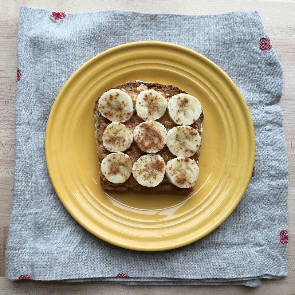 """<p>This satisfying peanut butter-banana toast gets a sprinkle of cinnamon for an extra flavor boost. <a href=""""http://www.eatingwell.com/recipe/261628/peanut-butter-banana-cinnamon-toast/"""" rel=""""nofollow noopener"""" target=""""_blank"""" data-ylk=""""slk:View recipe"""" class=""""link rapid-noclick-resp""""> View recipe </a></p>"""