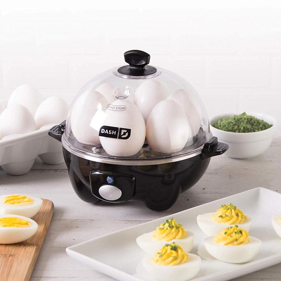 <p>This <span>Dash Rapid Egg Cooker</span> ($20) lets you cook up to six eggs at once with minimal time and water. You can even adjust how soft or firm your eggs are cooked. It's lightweight and compact for easy storage.</p>