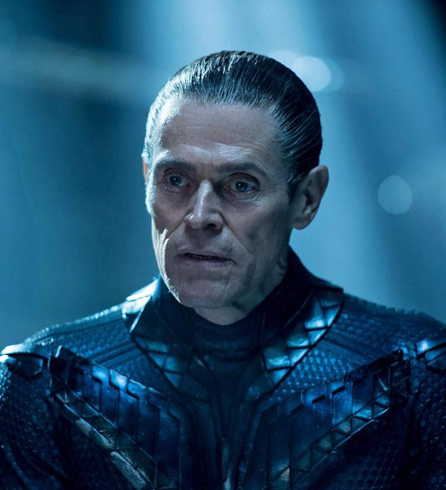 Willem Dafoe as Vulko in Aquaman (Credit: Warner Bros)
