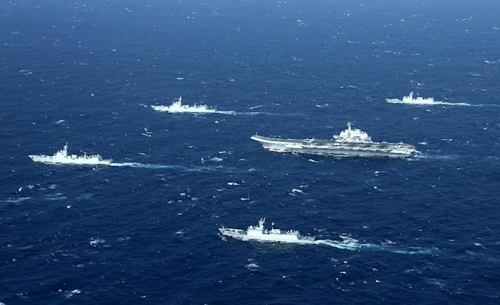 A Chinese naval group in the South China Sea, where the US considers Beijing's presence is a growing strategic threat (AFP Photo/STR)