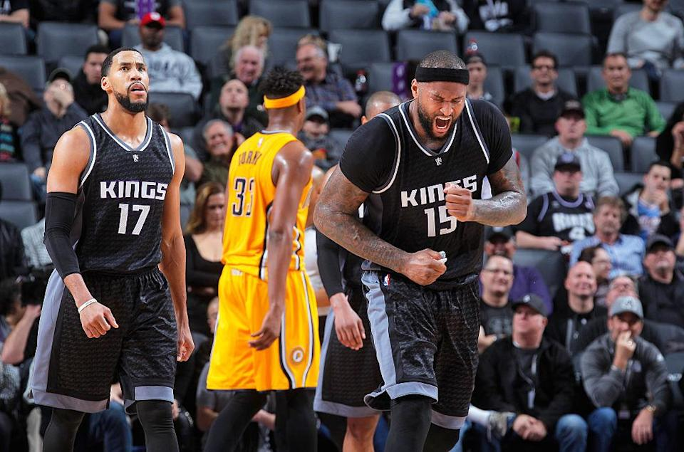 One suspects a playoff berth would cause DeMarcus Cousins to finally express some emotions. (Getty Images)