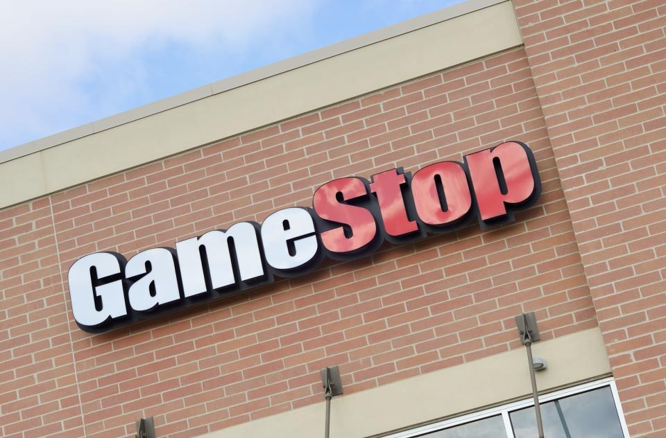 Auburn Hills, Michigan, USA - February 17, 2012: The GameStop location off Adams Road in Auburn Hills, Michigan. Tracing its roots back to Babbage's, a retailer founded in Texas in 1984, GameStop has grown to over 6500 locations around the world and deals primarily in video games and consoles.
