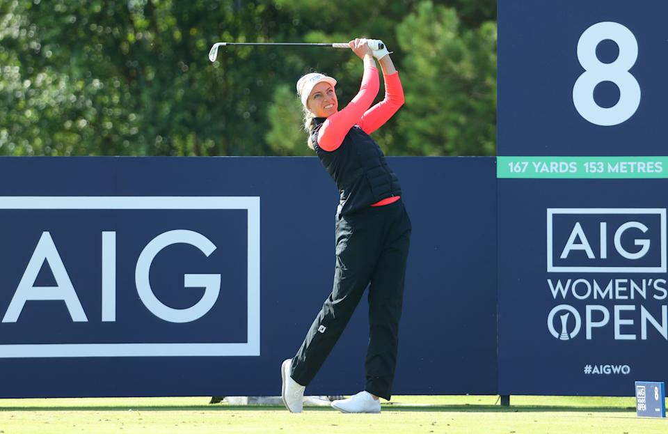 Sophia Popov is defending the AIG Women's Open title she won at Royal Troon at this week's event at Carnoustie.