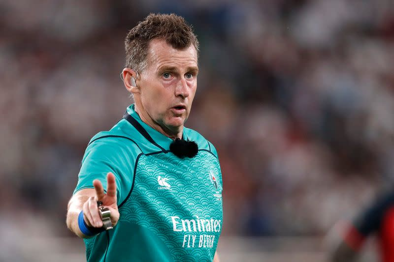 Welsh referee Owens to officiate 100th test in Autumn Nations Cup