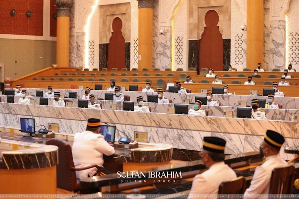 This is the second time that the fourth session of the Johor state assembly has been rescheduled due to Covid-19. ― Picture via Facebook
