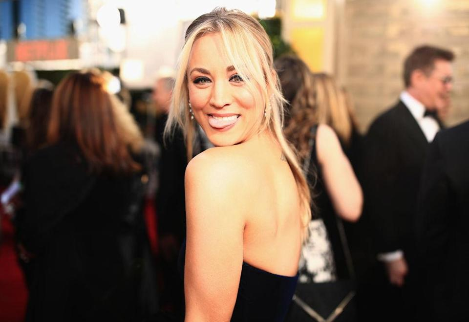 Kaley Cuoco arrives at the 76th Annual Golden Globe Awards at the Beverly Hilton Hotel in Beverly Hills, Calif., on Jan. 6, 2019. (Photo: Christopher Polk/NBC/NBCU Photo Bank)