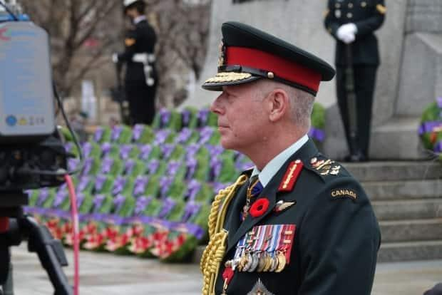 Gen. Jonathan Vance at the National War Memorial on Wednesday, November 11, 2020.