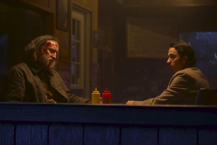 """Nicolas Cage and Alex Wolff in 'Pig'<span class=""""copyright"""">David Reamer</span>"""