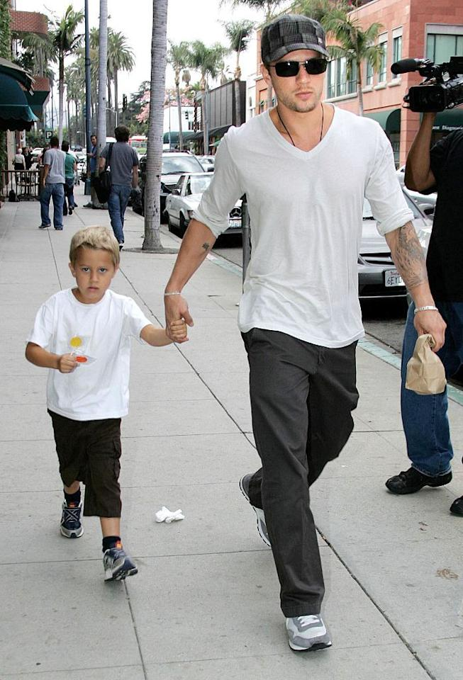<p>If you thought Reese and her daughter were doppelgangers, Deacon Phillippe is pretty much the spitting image of dad, Ryan. <i>(Photo by Philip Ramey/Corbis via Getty Images)</i></p>