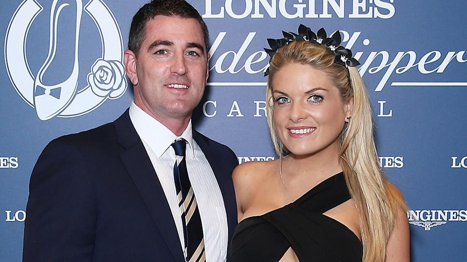 Erin Molan and Sean Ogilvy, pictured here at Golden Slipper Day in 2016.