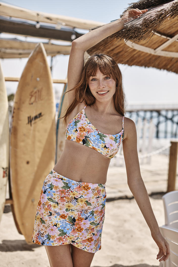 The Ruched Swim Skirt. Image courtesy of Rifle Paper Co.
