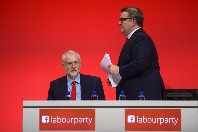 Jeremy Corbyn and Tom Watson at the 2016 party conference. (Empics Entertainment)