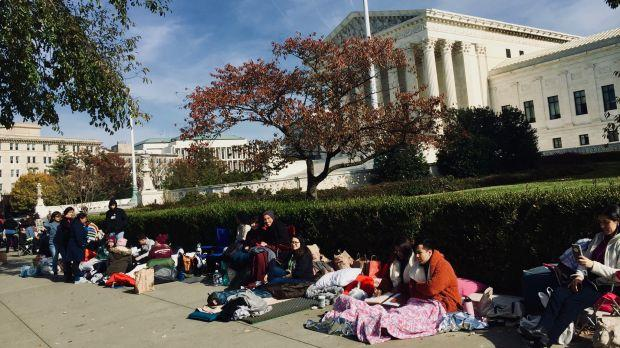 Dreamers camped outside of SCOTUS on Nov. 11.