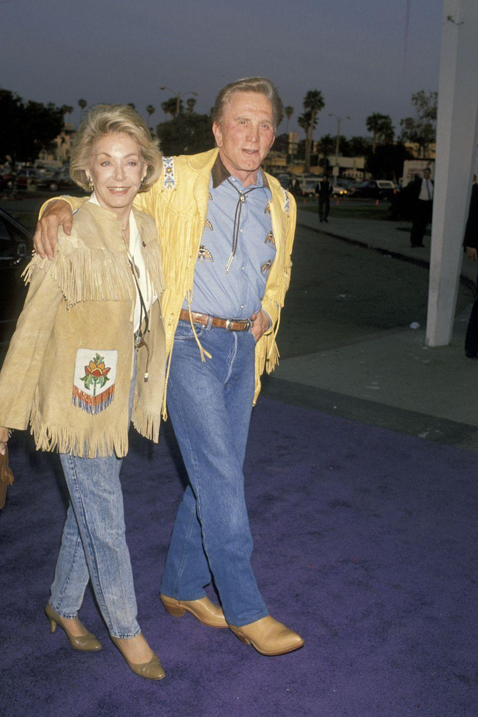 <p>Buydens and Douglas arrive at the Share Boomtown Party in Santa Monica. </p>