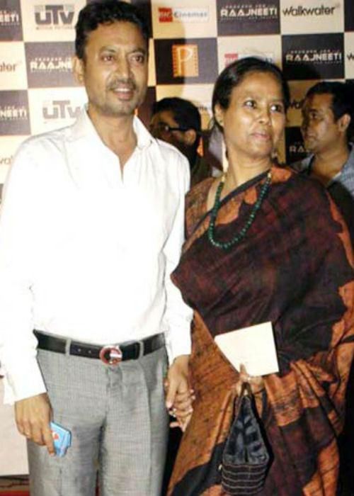 "<div class=""heading03""><b>2. Irrfan Khan and Sutapa Sikdar</b></div> <p> Parent of two, Irfan and Sutapa have been married for more than a decade  now. Their love story began in Delhi during their days in NSD (National  School of Drama).</p>"