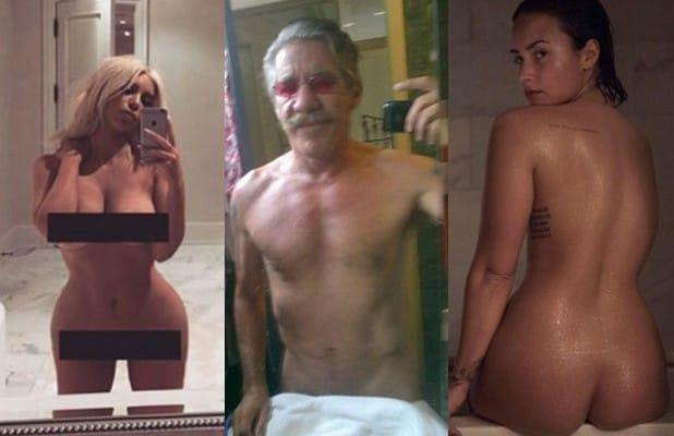 cd006046f8e6 14 Stars Who've Posted Nude Selfies, From Chrissy Teigen to Geraldo (Photos)