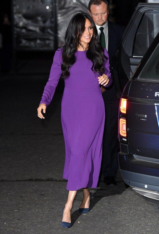 Meghan Markle Purple Dress