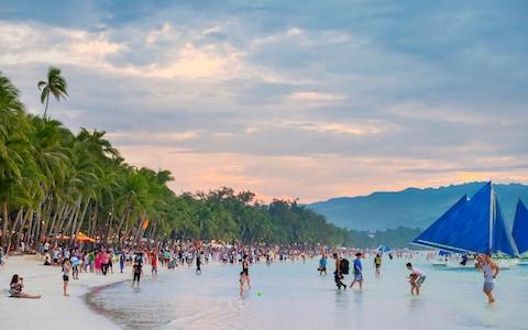 "Boracay had to close in 2018 after the president of the Philippines described it as a ""cesspool"" - Credit: Getty"