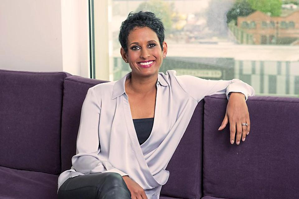 Bad morning: presenter Naga Munchetty was disciplined then undisciplined by the BBC after she made comments about Donald Trump on the Breakfast show: BBC Pictures