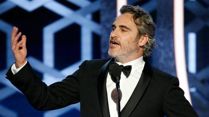 Joaquin Phoenix divided opinion with his win, but even more so with his acceptance speech. Photo: NBC