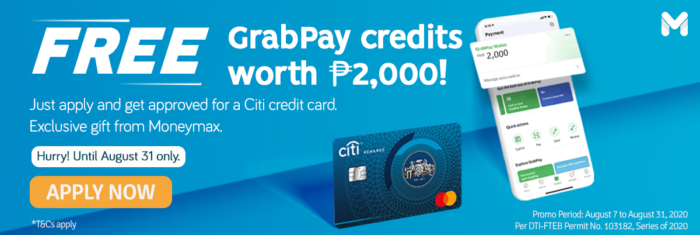 citibank credit card promo - moneymax grabpay promo