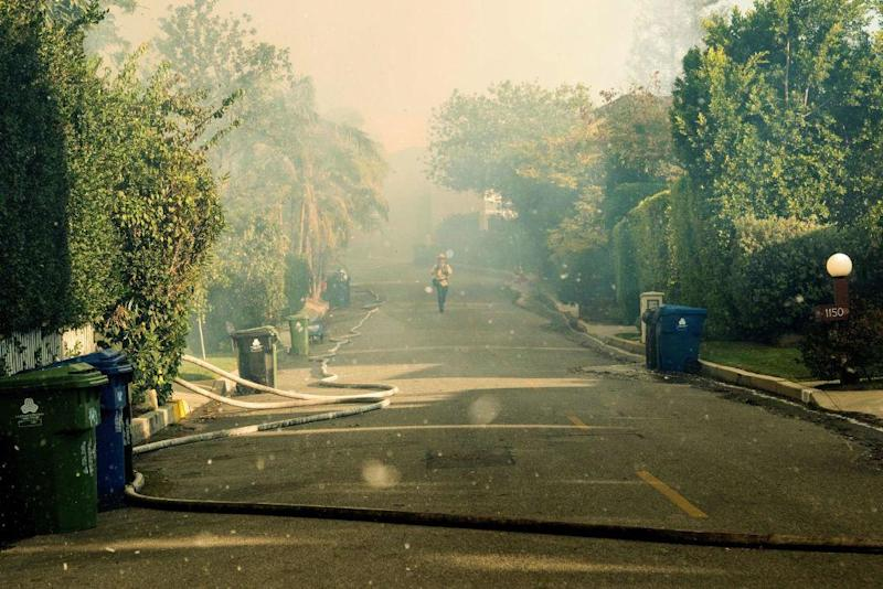 The fires this week devastated some of LA's ritziest neighbourhoods: AFP/Getty Images