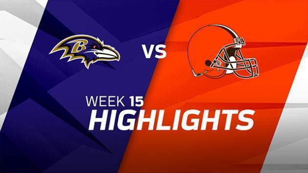 <p>Baltimore Ravens vs. Cleveland Browns highlights | Week 15</p>