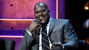 Shaquille O'Neal, deep in thought.