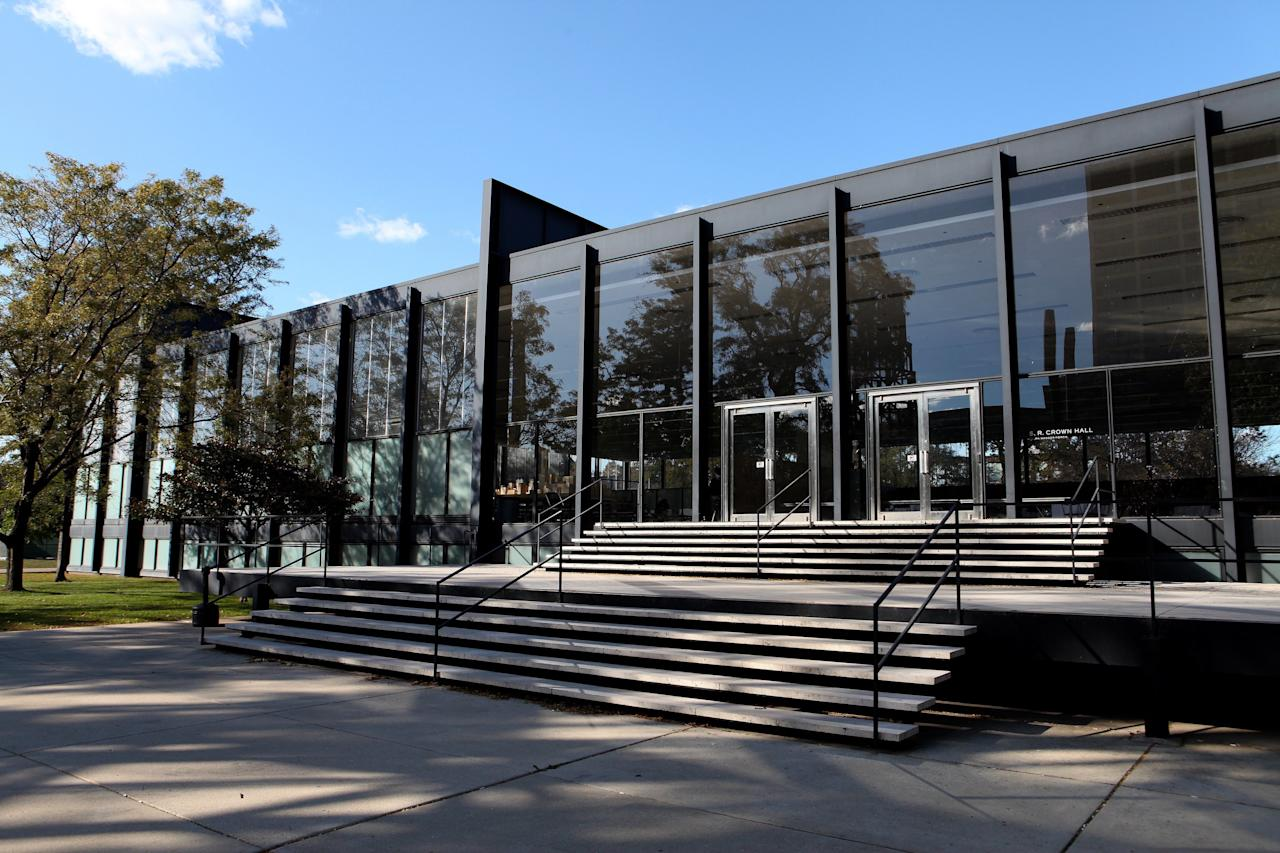 """<p>Like many of the stark pavilions and glass houses of the era, The Illinois Institute of Technology's S.R. Crown Hall was a showpiece of volume over mass. Crown Hall's versatile, columnless interior was boxed beneath a frame Mies once described as """"almost nothing.""""</p>"""