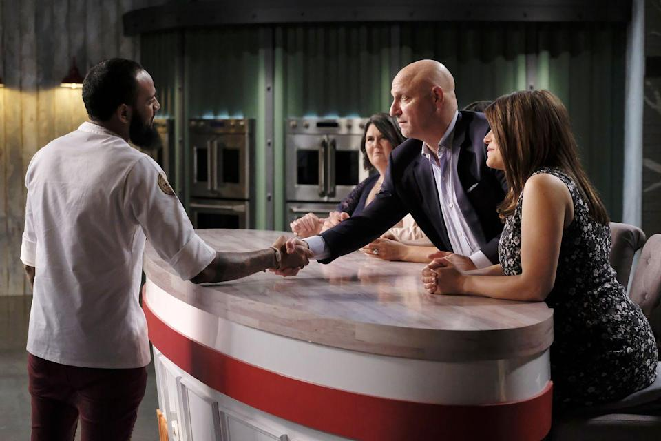 """<p>If your time on <em>Top Chef</em> gets cut short, you can't go back to your life just yet. In a bid to prevent spoilers, all <a href=""""https://www.mashed.com/184691/the-untold-truth-of-top-chef/"""" rel=""""nofollow noopener"""" target=""""_blank"""" data-ylk=""""slk:eliminated contestants are &quot;quarantined&quot;"""" class=""""link rapid-noclick-resp"""">eliminated contestants are """"quarantined""""</a> together until the season wraps. </p>"""