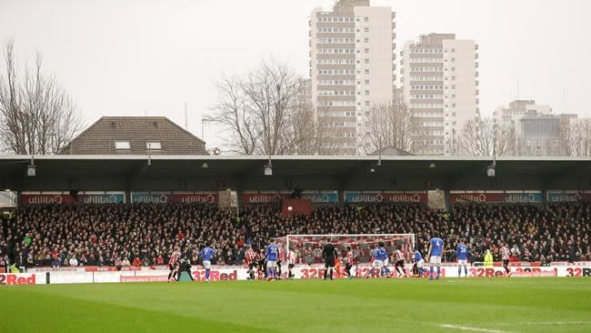 Brentford in playoff final after last game at 116-year home